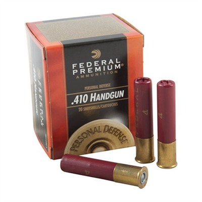 Premium Personal Defense Ammo 410 Bore 2-1/2 & Quot; 7/16 Oz 4 Shot by Federal