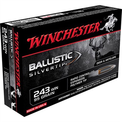 Click here to buy Supreme Ballistic Silvertip Ammo 243 Winchester 95gr Bst by Winchester.