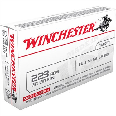 Usa White Box Ammo 223 Remington 62gr FMJ by Winchester