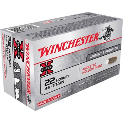 Click here to buy Super-X Ammo 22 Hornet 46gr Jhp by Winchester.