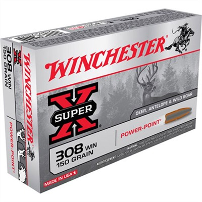 Click here to buy Super-X Ammo 308 Winchester 150gr Power-Point by Winchester.