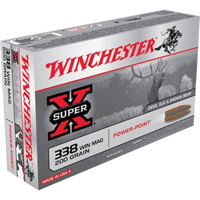 Click here to buy Super-X Ammo 338 Win Mag 200gr Power-Point by Winchester.