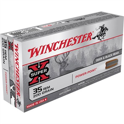 Super-X Ammo 35 Remington 200gr Power-Point by Winchester