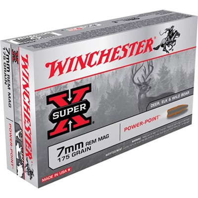 Super-X Ammo 7mm Remington Magnum 175gr Power-Point by Winchester