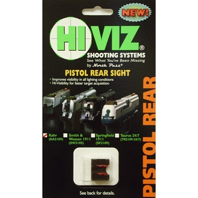 Click here to buy Kahr Fiber Optic Rear Sights by Hiviz.