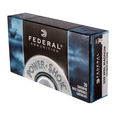 Power-Shok Ammo 300 Win Mag 150gr Sp by Federal