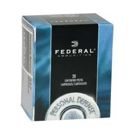 Personal Defense Ammo 357 Magnum 125gr Jhp by Federal