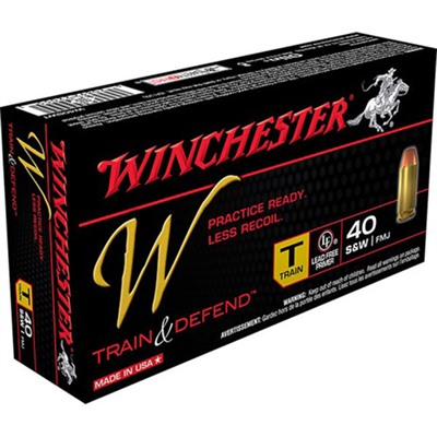 Train & Defend Ammo 40 S & w/ 180gr FMJ by Winchester