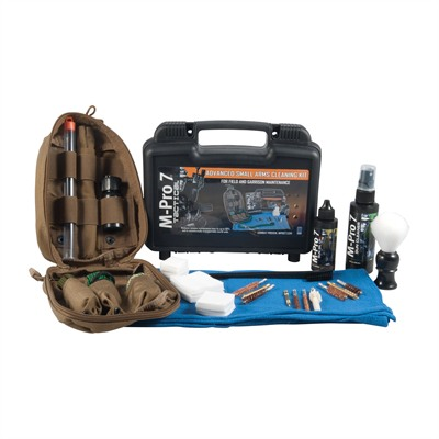 Click here to buy M-Pro 7 Advanced Small Arms Cleaning Kits by Bushnell.