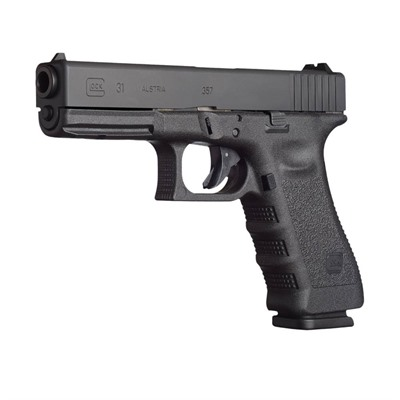 Click here to buy G31 4.49in 357 Sig Gas Nitride 10+1rd by Glock.