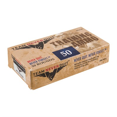 Frangible Lead Free Training Ammo 10mm Auto 125gr FMJ-Fn by Team Never Quit