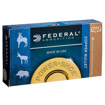 Power-Shok Copper Ammo 300 Win Magnum 180gr Copper Hollow Point by Federal