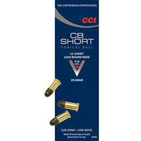 Cb Short Ammo 22 Short 29gr Lead Round Nose by Cci