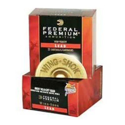 Wing-Shok Ammo 20 Gauge 2-3/4 & Quot; 1 Oz 6 Shot Copper Plated Shot by Federal