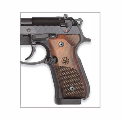Grips, 92 96 Wood Oval Chkrng by Beretta Usa
