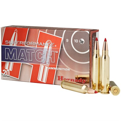 Superformance Match Ammo 223 Remington 73gr Eld-M by Hornady
