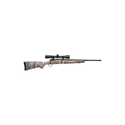 Click here to buy Axis Xp 20in 243 Winchester Matte Blue Camo 4+1rd by Savage Arms.