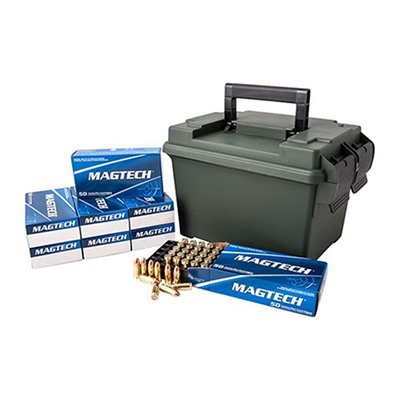 Click here to buy Sport Shooting Ammo 45 Acp 230gr FMJ Ammo Can by Magtech Ammunition.