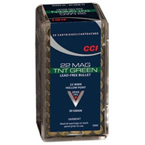 Tnt Green Ammo 22 Magnum (Wmr) 30gr Hollow Point by Cci