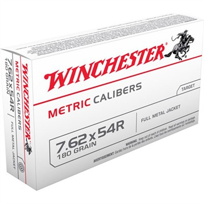 Usa White Box Ammo 7.62x54r 180gr FMJ by Winchester