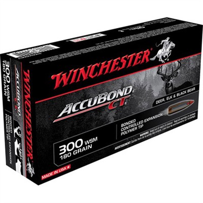Supreme Accubond Ct Ammo 300 Wsm 180gr Bt by Winchester