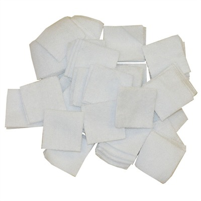 100% Cotton Flannel Bulk Cleaning Patches by Brownells