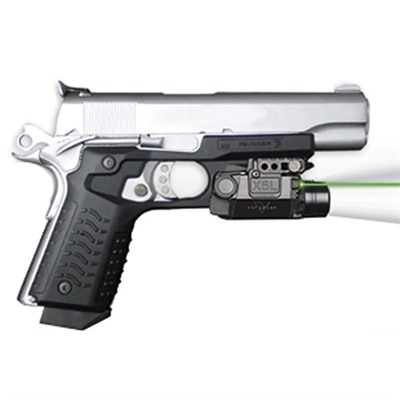 Click here to buy X5l Green Laser Sight + Recover Grips by Viridian.