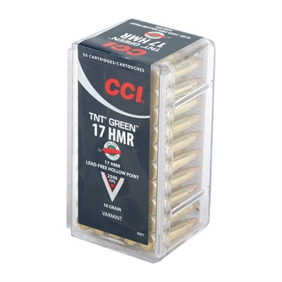 Tnt Green Ammo 17 Hmr 16gr Lead-Free Hollow Point by Cci