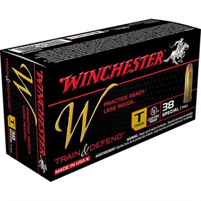 Train & Defend Ammo 38 Special 130gr FMJ by Winchester