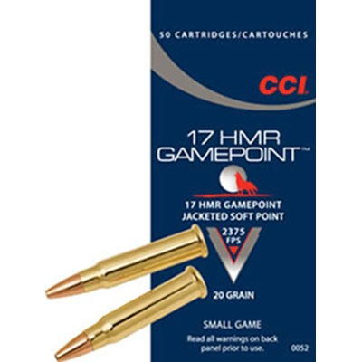 Gamepoint Ammo 17 Hmr 20gr Jacketed Soft Point by Cci