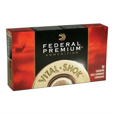 Click here to buy Vital-Shok Ammo 375 H & H Magnum 300gr Nosler Partition by Federal.