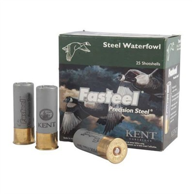 Click here to buy Fasteel Waterfowl Ammo 12 Gauge 3-1/2 & Quot; 1-3/8 Oz 2 Steel Shot by Kent Cartridge.