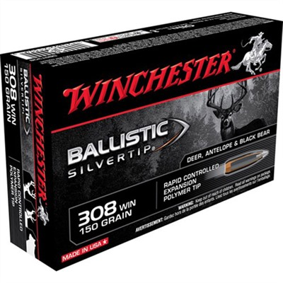 Supreme Ballistic Silvertip Ammo 308 Winchester 150gr Bst by Winchester
