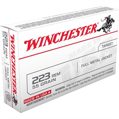 Usa White Box Ammo 223 Remington 55gr FMJ by Winchester