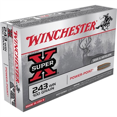 Super-X Ammo 243 Winchester 100gr Power-Point by Winchester