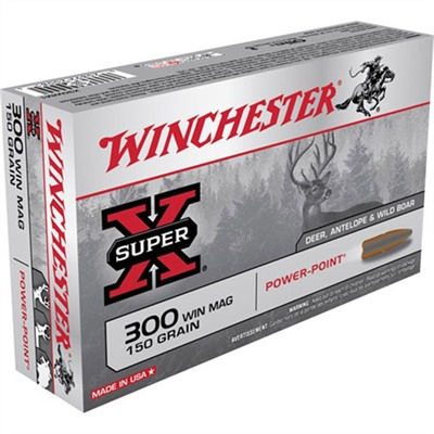 Super-X Ammo 300 Win Mag 150gr Power-Point by Winchester