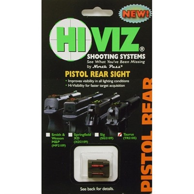 Taurus Fiber Optic Rear Sights by Hiviz