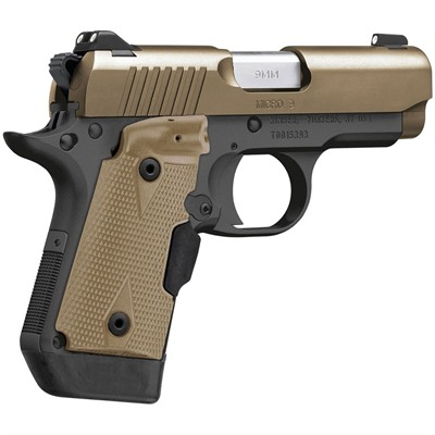 Click here to buy Micro 9 Desert Tan Ct 9mm by Kimber Mfg..