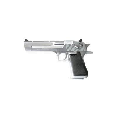 Desert Eagle 6in 44 Magnum Brushed Chro Black Rubber Fixed 8+1rd by Magnum Research