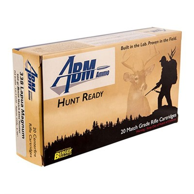Hunt Ready Ammo 338 Lapua Magnum 300gr Berger Elite Hunter by Abm Ammo