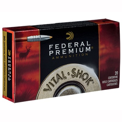 Click here to buy Vital-Shok Ammo 7mm Weatherby Magnum 160gr Trophy Bonded Tip by Federal.