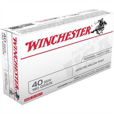 Usa White Box Ammo 40 S & w/ 180gr Jhp by Winchester