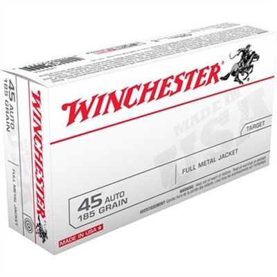Usa White Box Ammo 45 Acp 185gr FMJ-Fn by Winchester