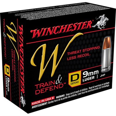 Train & Defend Ammo 9mm Luger 147gr Jhp by Winchester