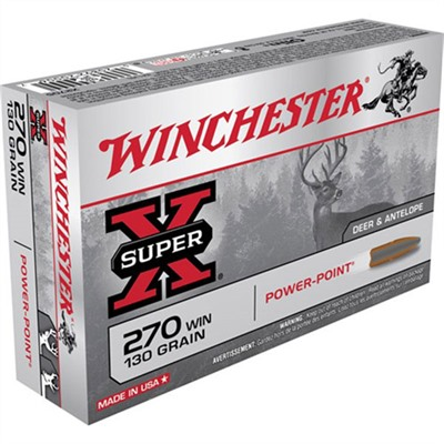 Super-X Ammo 270 Winchester 130gr Power-Point by Winchester