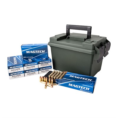 Click here to buy 9mm Luger 115gr FMJ 400 Round Ammo Can by Magtech Ammunition.
