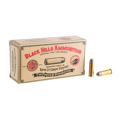 Cowboy Action Ammo 38 Long Colt 158gr Lead Round Nose by Black Hills Ammunition