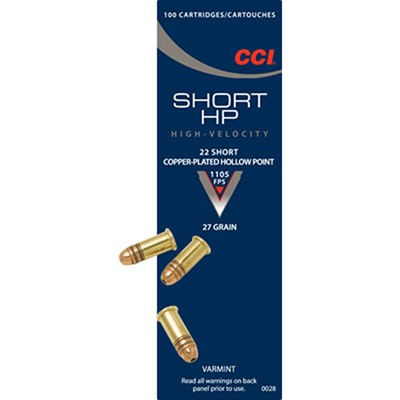 Short Hp Ammo 22 Short 27gr Cphp by Cci