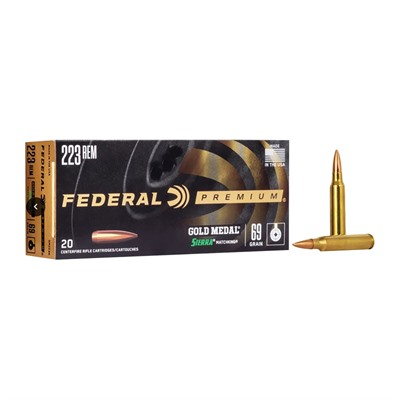 Gold Medal Match Ammo 223 Remington 69gr Hpbt by Federal