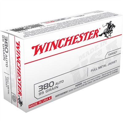 Usa White Box Ammo 380 Auto 95gr FMJ by Winchester